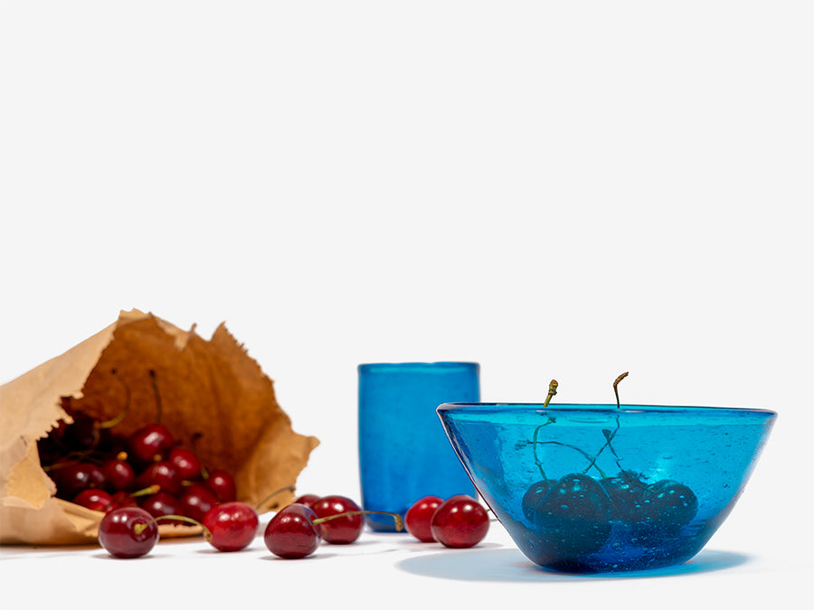 Glass Bowl // Turquoise </br> Small