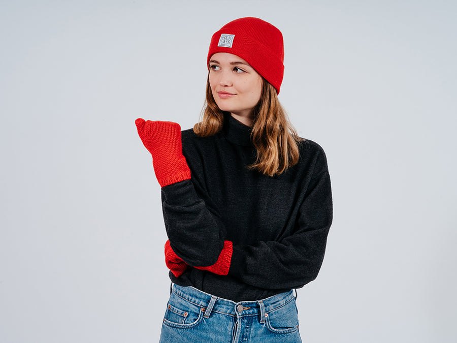 Rina Gloves // red