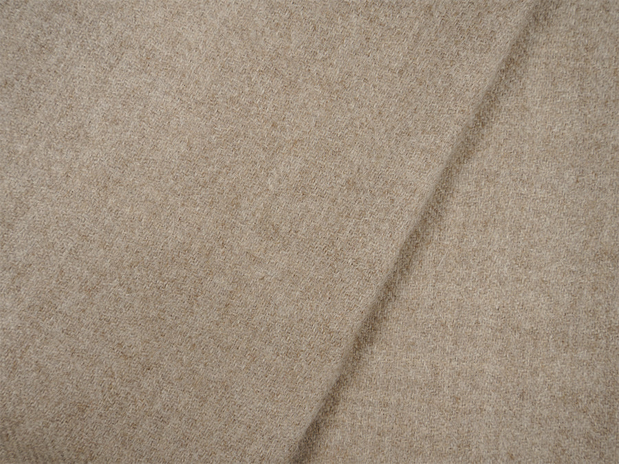 Alpaca Wool Blanket with Fringes // Beige