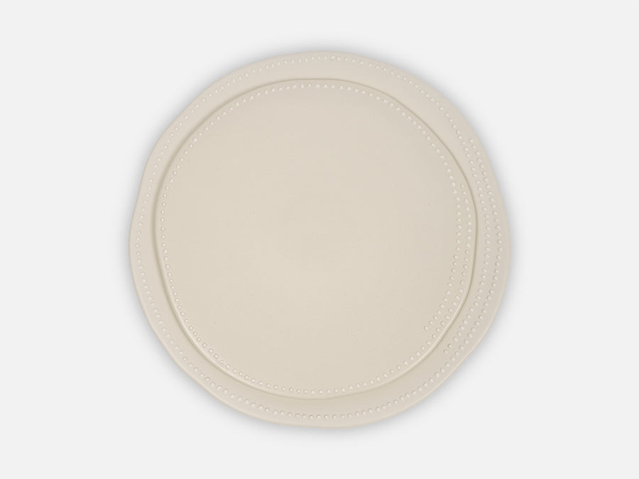 Plate with White Dots // White </br> Big