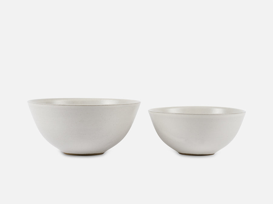 Simple Ceramic Bowl // White </br> Big