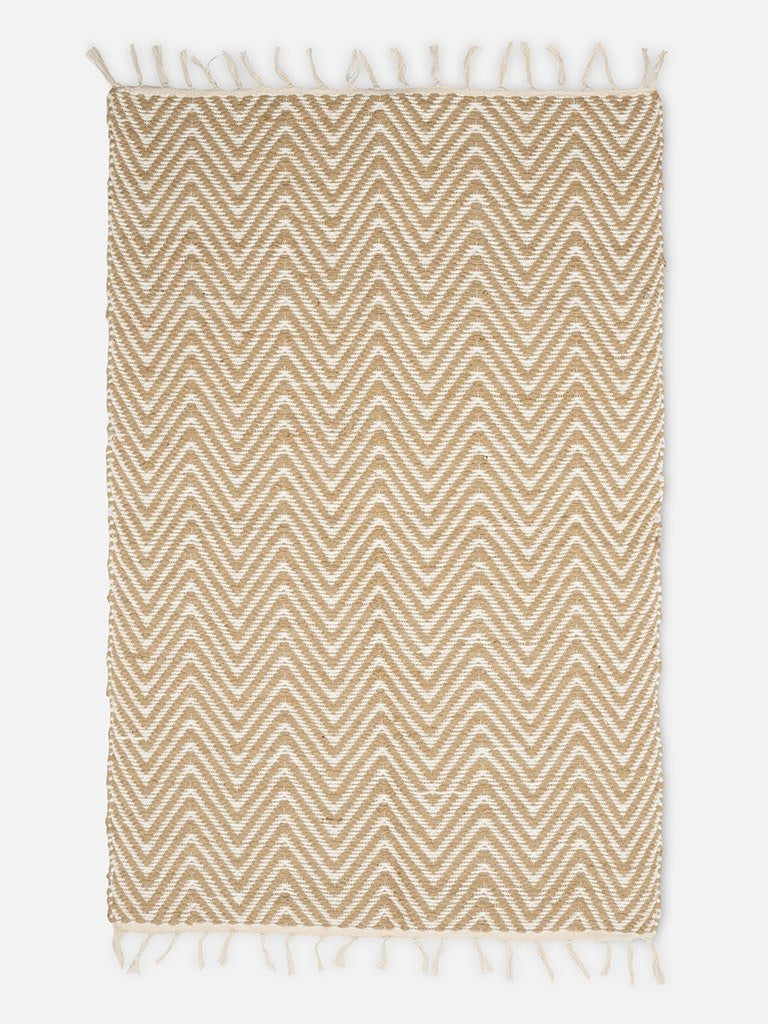 Small Carpet with Zigzag Pattern