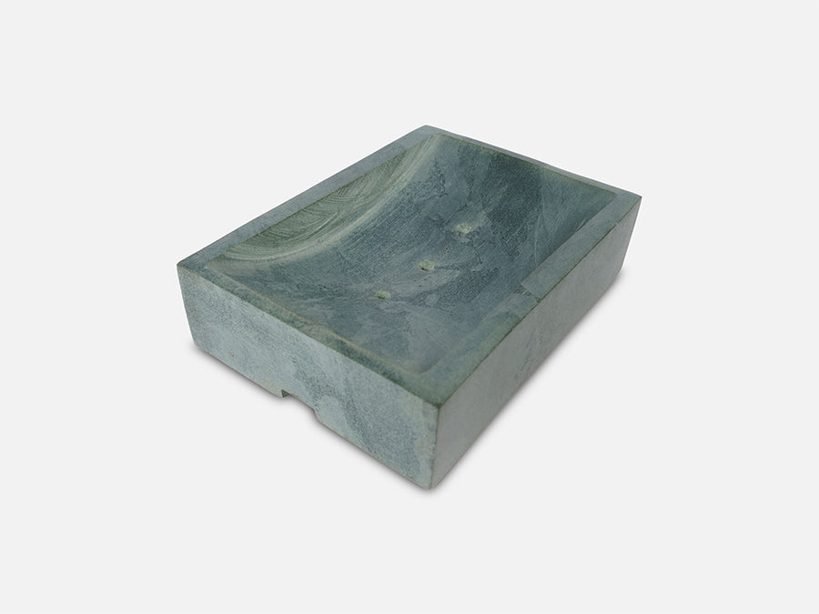 Solid Soapstone Soap Dish // Grey