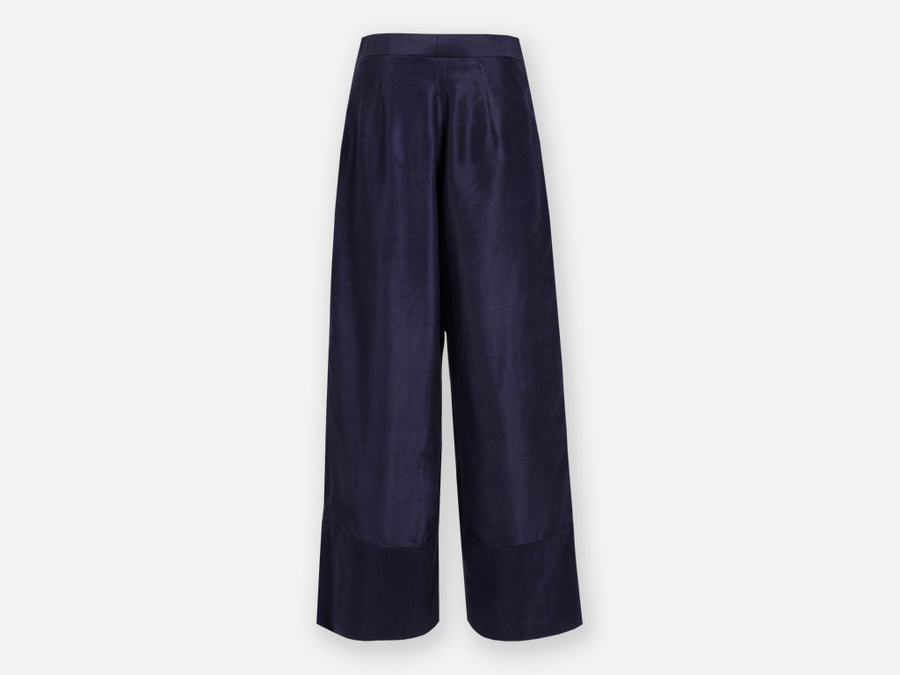 Jorani Silk Pants // Blue