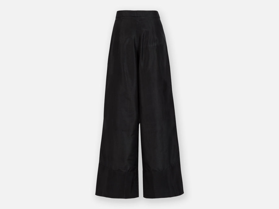 Jorani Silk Pants // Black