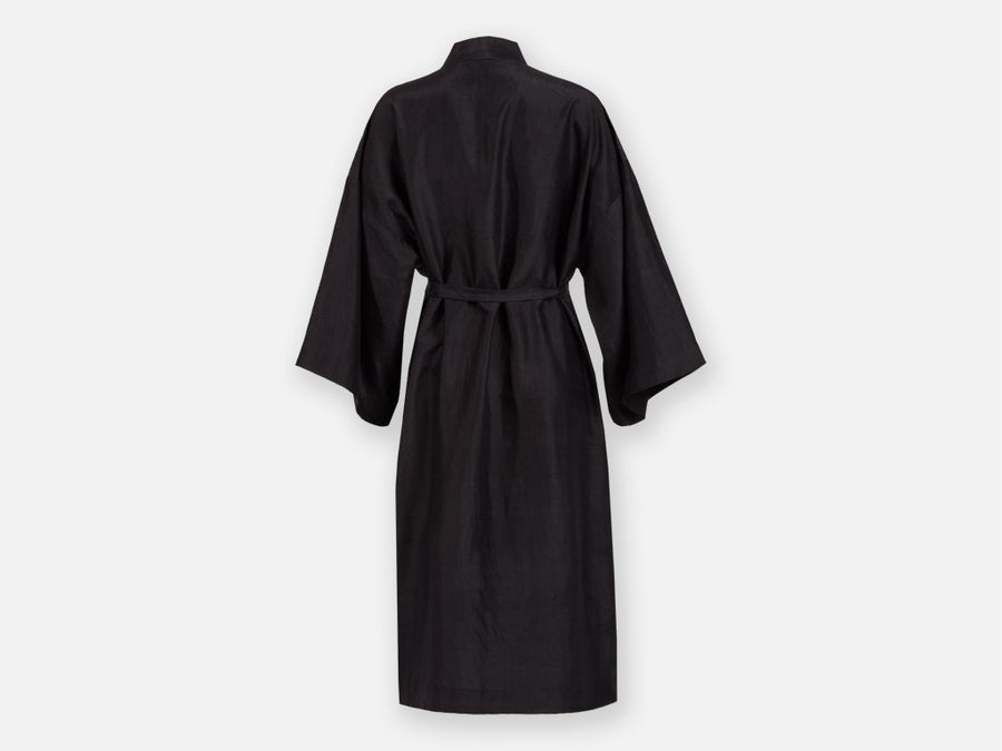 Arun Silk Robe // black