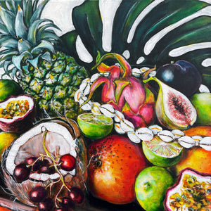 Pineapple, Limes and Coconut- ORIGINAL PAINTING
