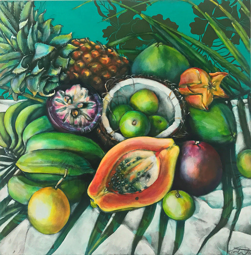 LES FRUITS LAVÉ DE BORA BORA - ORIGINAL PAINTING