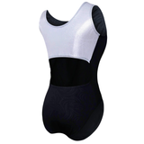 Classic Open Back Contrasting Gymnastics Leotard For Girls