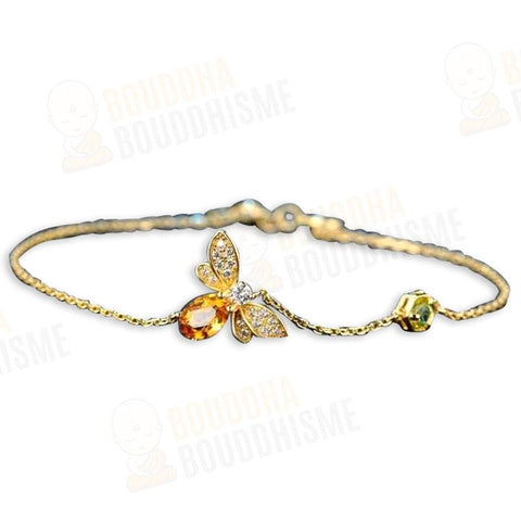 "Bracelet ""Abeille d'Or"" en Citrine"