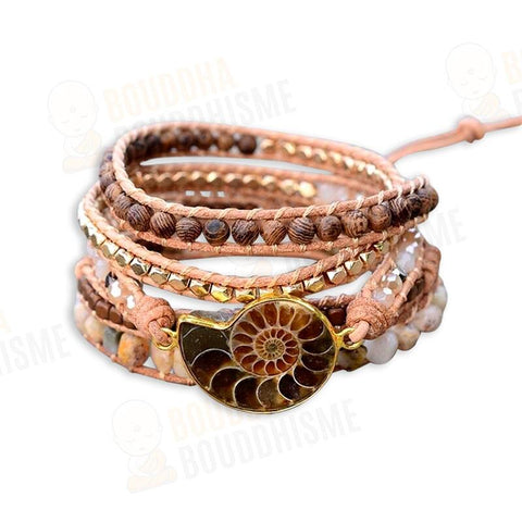 "Bracelet Wrap ""Accomplissement"" en Nautile"
