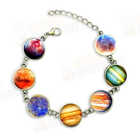 Bracelet 7 Galaxies en Verre Ajustable