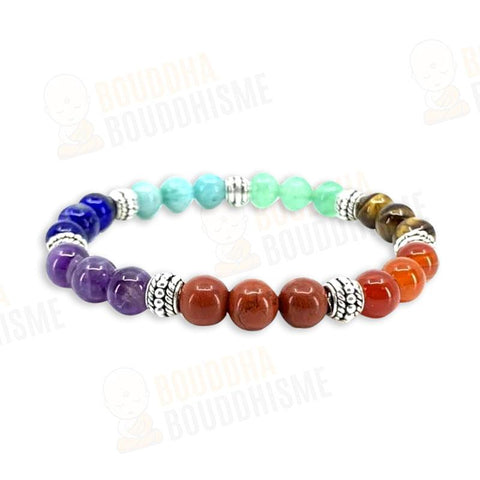 "Bracelet ""7 Chakras"" Triple en Pierres Naturelles (Nouvelle version 2020)"