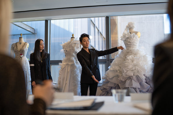 FIT Students Design Sustainable Wedding Gowns From Interlining