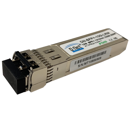 D-NET 10 Gigabit SFP+ WDM Module Transceiver, LC Fiber Connector, Single-Mode WDM, 10 Kilometers (6.21 Miles), (DN-SFP+BD10GBX)