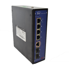Load image into Gallery viewer, D-NET 4 Port Gigabit Ethernet Network Industrial Switch, Commutator, PoE (DN-IPS-33064PFM)