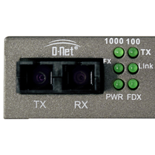 Load image into Gallery viewer, D-NET Ethernet Media Converter, Single Mode LX Fiber, 10/100/1000 Base-T (20 Km), (DN-10000-S20)