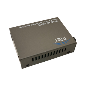 D-NET Ethernet Media Converter, Multimode Dual LC Fiber, SFP Module to 10/100/1000 Base-T (550m), (DN-10000-GBIC)