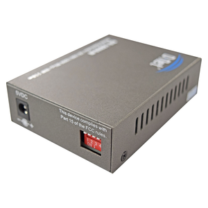D-NET Ethernet Media Converter, Single Mode LX Fiber, 10/100/1000 Base-T (550 Meters), (DN-10000-M)
