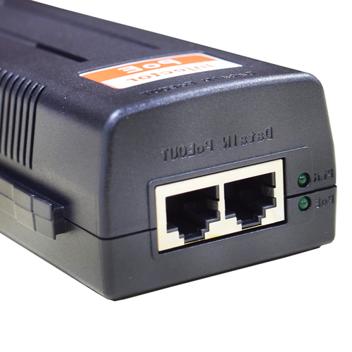 D-NET Power Over Ethernet (PoE) Injector, Powers Devices up to 100 M (328 Ft.), 30 Watts (DN-POE-1001-30W)
