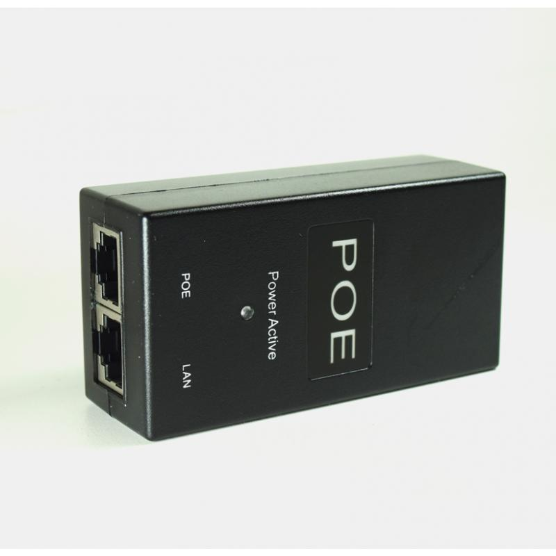 D-NET Power Over Ethernet (PoE) Injector, Powers Devices up to 100 M (328 Ft.), 24 Watts (DN-POE-1001-24V)
