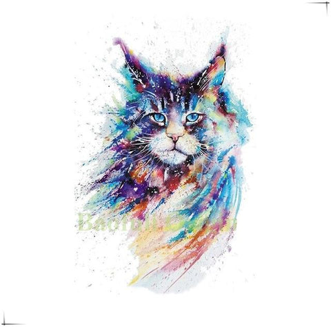 Tattoo Chat Maine Coon - Felix-le-chat