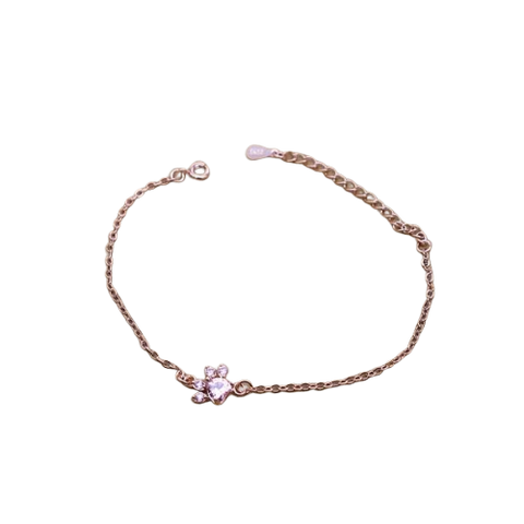 Bracelet Femme Chat <br>patte Quartz rose - felix-le-chat