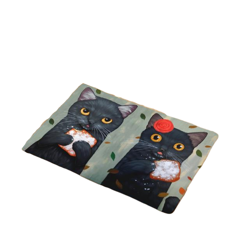Tapis Couple Chats Funs - Felix-le-chat