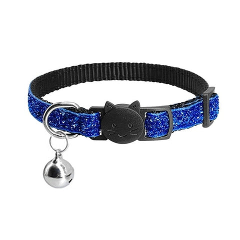 Collier chat tête de chat bleu - Felix-le-chat