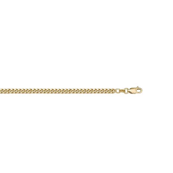 Beautiful Charm Curb Design Thin Solid Gold Chain By Jewelry Lane