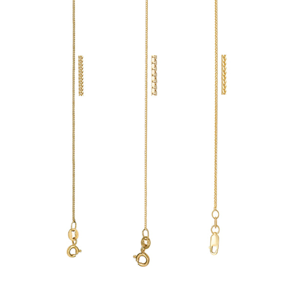 Beautiful Charm Thin Solid Gold Chain By Jewelry Lane