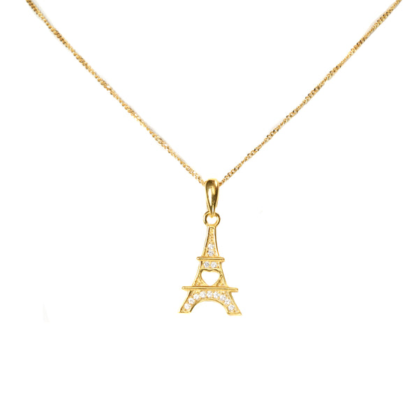 Gold Eiffel Tower Pendant
