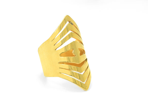 Elongated Gold Ring