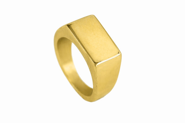 Rectangular Statement Signet Ring