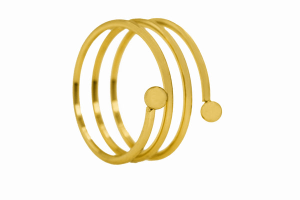 Elegant Simple Spiral Solid Gold Ring By Jewelry Lane