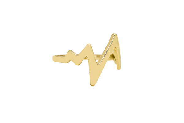 Heart Beat Stacker Ring