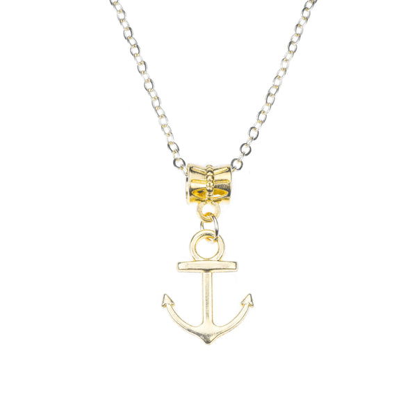 Beautiful Classic Dangling Anchor Solid Gold Pendant By Jewelry ane