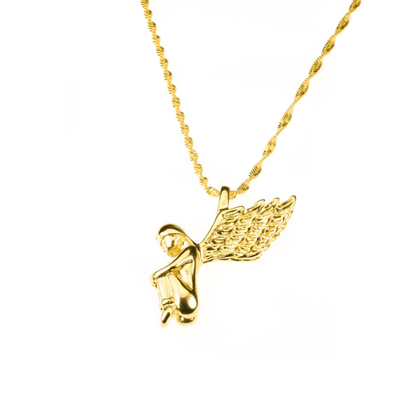 Beautiful Charming Angel Solid Gold Pendant By Jewelry Lane