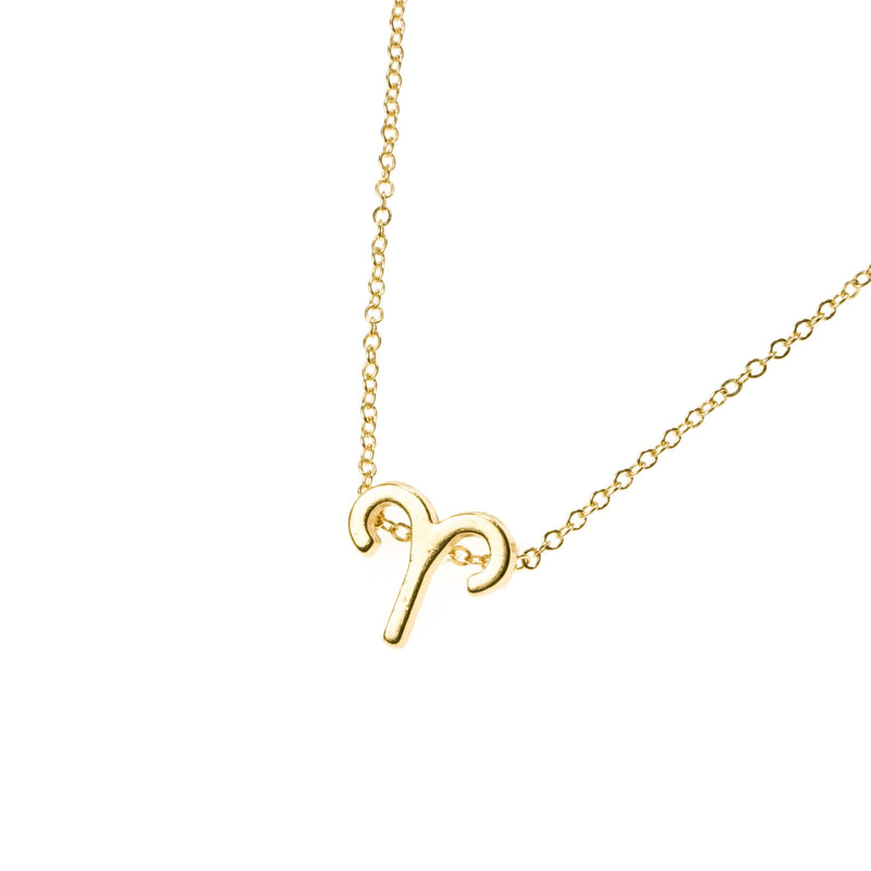 Beautiful Design Zodiac Chic Aries Solid Gold Pendant By Jewelry Lane