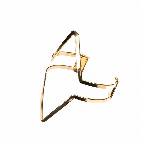 Elegant Modern Triangle Solid Gold Armband Bangle By Jewelry Lane