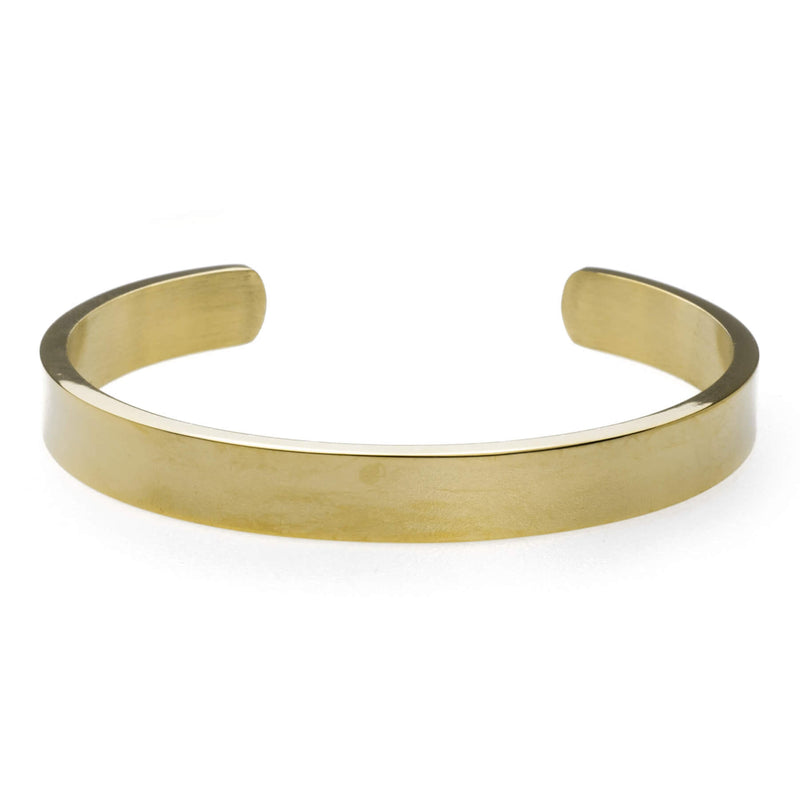 Beautiful Solid Gold Open Cuff Bangle by Jewelry Lane