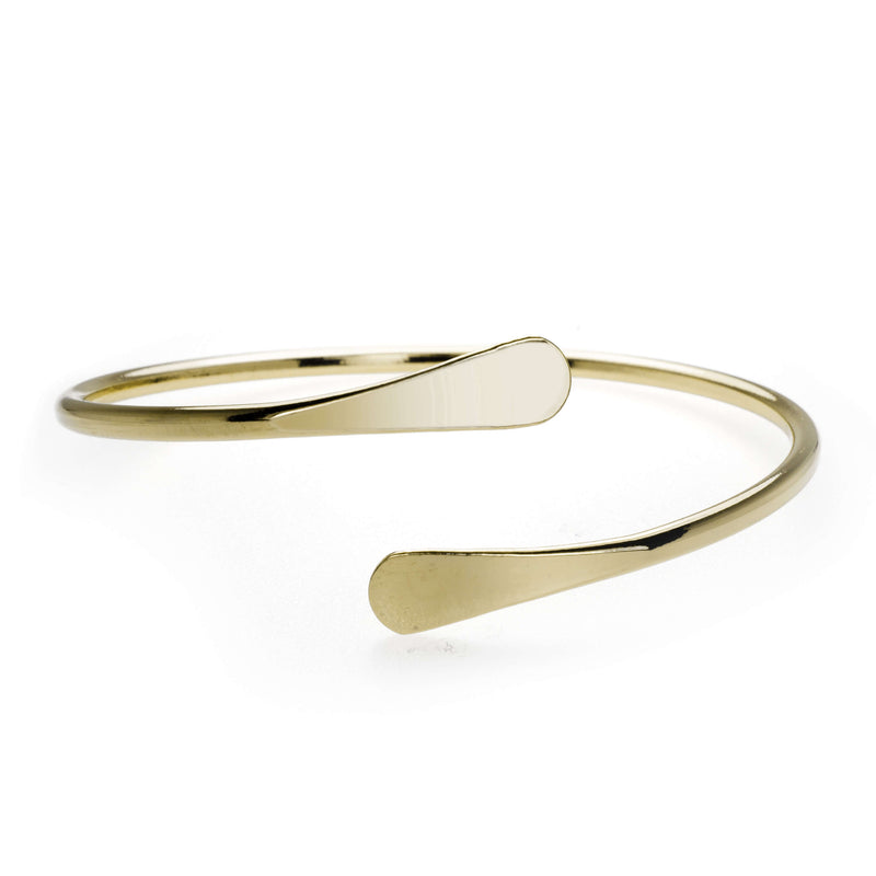 Solid Gold Open Cuff Bangle by Jewelry Lane