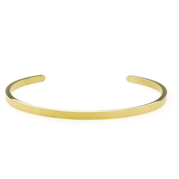 Beautiful Timeless Solid Gold Open Cuff Bangle by Jewelry Lane