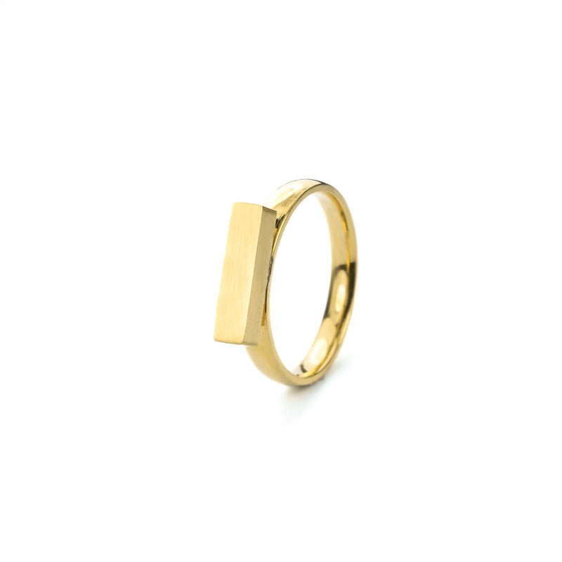 Beautiful Solid Gold Minimalist Stacker Ring by Jewelry Lane