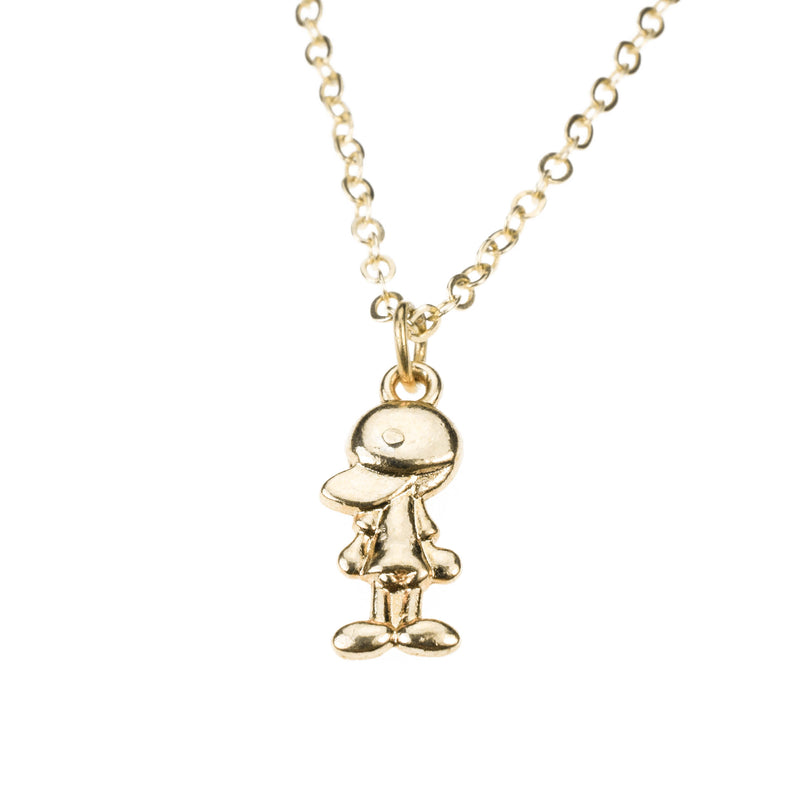 Charming Sporty Baseball Cap Solid Gold Necklace By Jewelry Lane