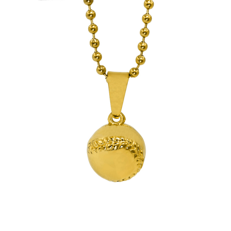 Beautiful Sporty Dangling BaseBall Design Solid Gold Pendant By Jewelry Lane