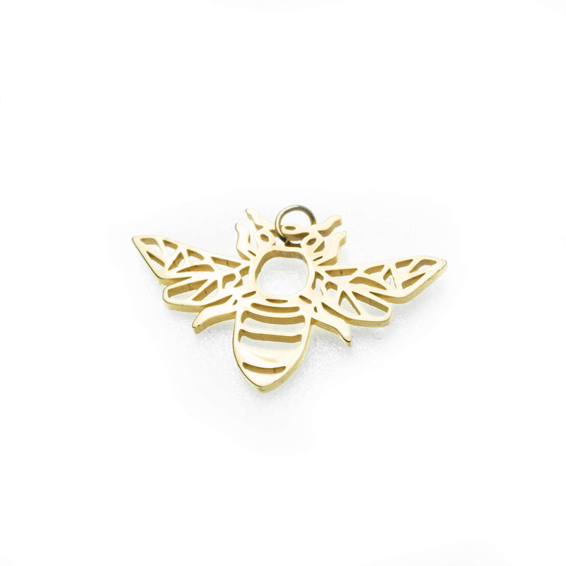 Beautiful Charming Bee Solid Gold Pendant By Jewelry Lane