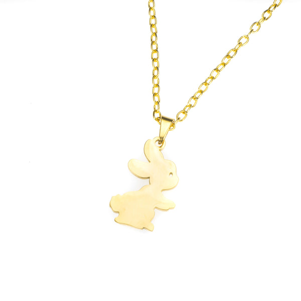 Beautiful Charming Cute Bunny Solid Gold Necklace By Jewelry Lane