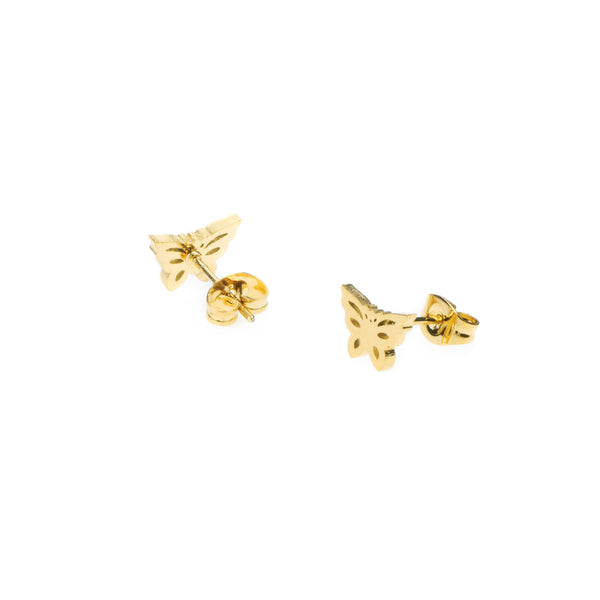 Elegant Simple Butterfly Solid Gold Earrings By Jewelry Lane