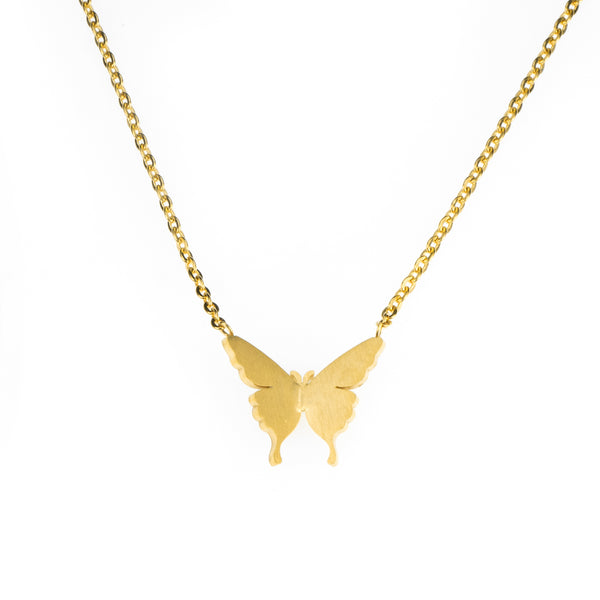 Beautiful Gorgeous Butterfly Solid Gold Necklace By Jewelry Lane